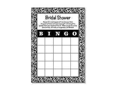 24 Bridal Shower Wedding Floral Damask Bingo Game Cards 5x7](Wedding Bingo)