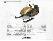 NOS Yamaha Factory Brochure Snowmobile Inviter