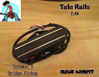 G.M. Tele Rails Telecaster  Bridge Pickup Ceramic 5