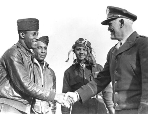 FIRST TUSKEGEE AIRMAN to Shoot Down Enemy Aircraft-CAPT CHARLES HALL-1943 PHOTO