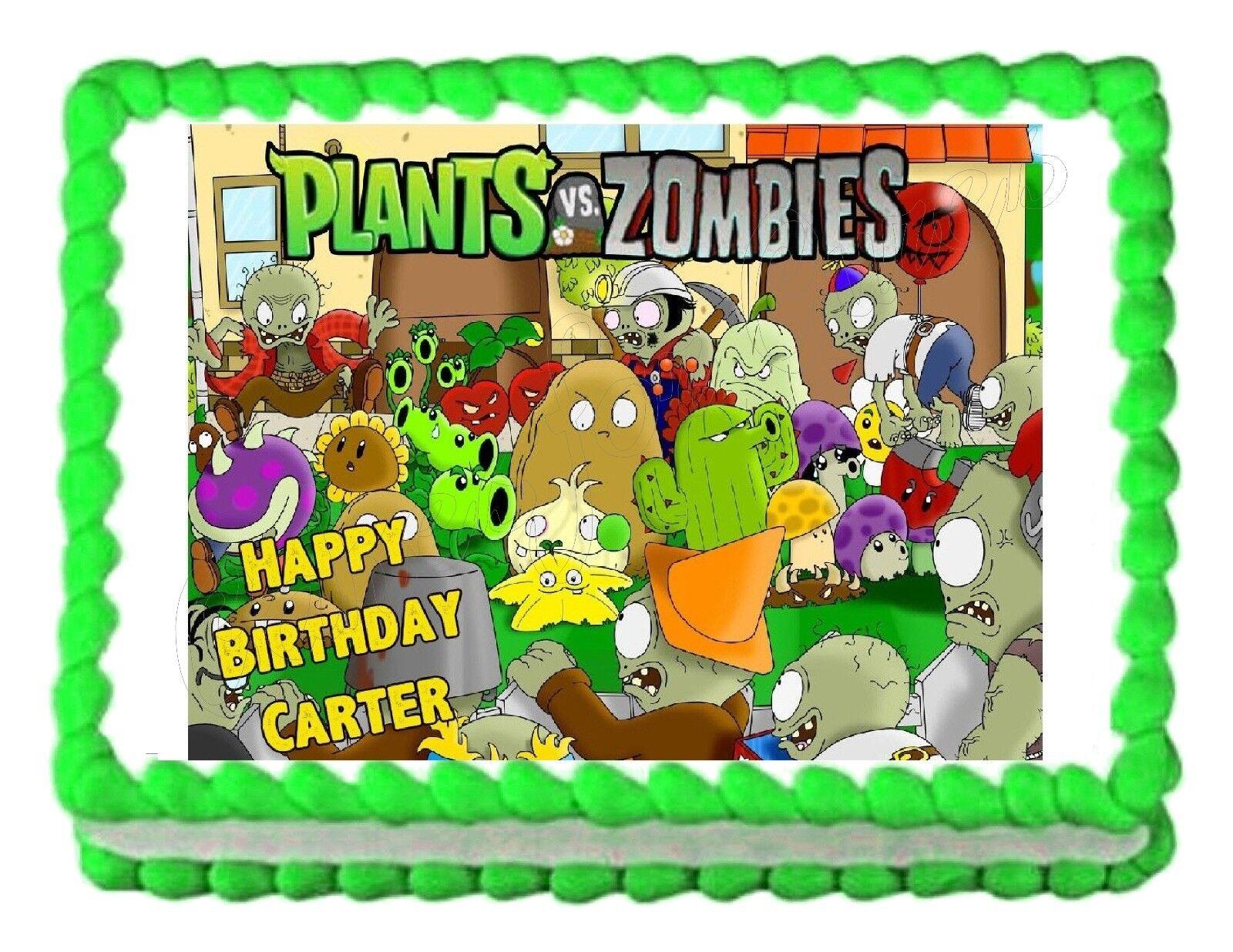 Plants Vs Zombies Garden Warfare Cake Topper
