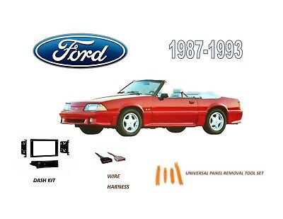 CAR STEREO INSTALL DASH KIT for 1987-1993 FORD MUSTANG with WIRE -