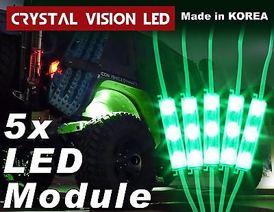 Crystal Vision Led 4X4 Off Road Jeep Under Body Rock Lights Bright Green  5 Pcs