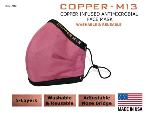 5 Layer Copper Infused Anti-Microbial Face Mask - 7 Colors