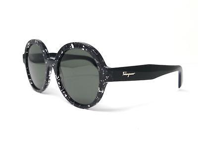 Salvatore Ferragamo Sunglasses SF878S 006 Black Havana Round (Black Havana Sunglasses)