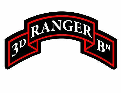 Home Decoration - 3rd Ranger Battalion Tab Vinyl Decal Sticker US ARMY
