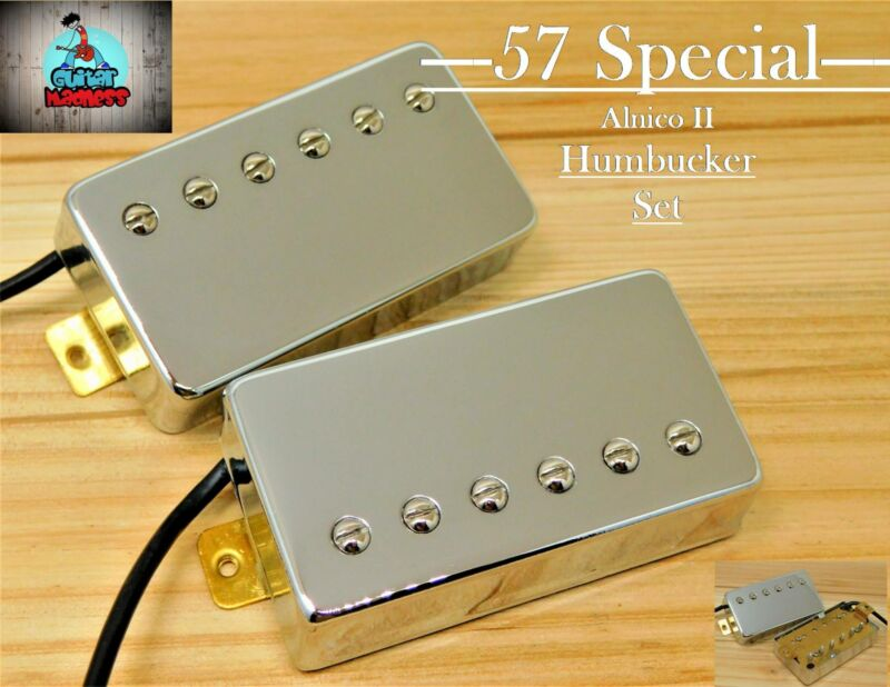 G.M. 57 Special Alnico II Chrome Humbucker set  (4-wire)for Gibson Epiphone®