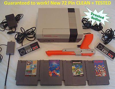 Nintendo Nes Console Bundle New Pins Game Lot Super Mario Tetris Tmnt Zapper