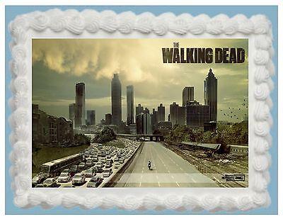 WALKING DEAD Edible Cake Topper Frosting Sheet  FREE SHIPPING - Walking Dead Cakes