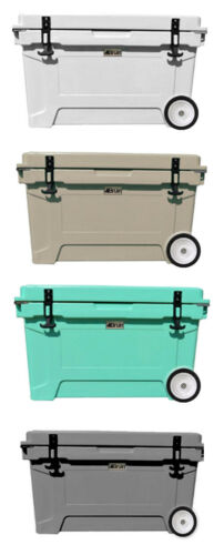 Bruin Outdoors 65L   68QT Roto-Molded Cooler and Ice Box - Keeps Ice 7+ Days