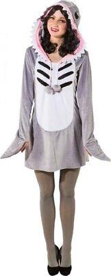 Damen Mumie Shark Tier Song Marine Fisch Kostüm - Shark Damen Kleid Kostüme