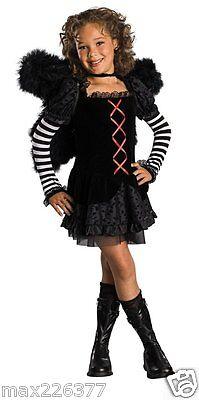 NEW Drama Queens Childs Dark Angel HALLOWEEN Costume girl Small SIZE 4 - 6 - Dark Angel Costume For Girls