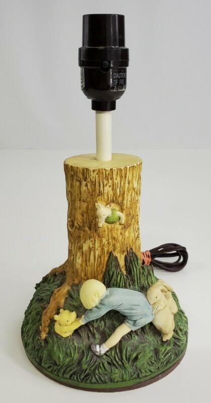 Rare Vintage Disney Charpente Winnie the Pooh & Christopher Robin & Friends Lamp