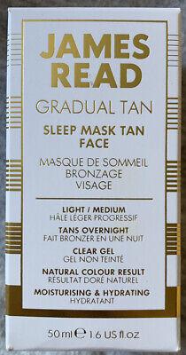JAMES READ Gradual Tan Light / Medium Sleep Mask Face 50ml NEW In Box