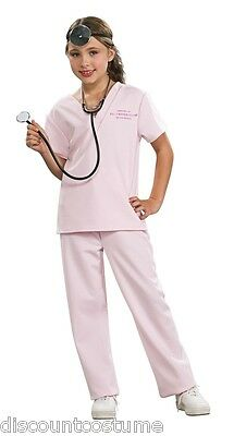 VETERINARIAN VET ANIMAL DOCTOR CHILD HALLOWEEN COSTUME GIRL'S SIZE SMALL 4-6  - Doctor Halloween Costume Girl