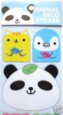 Cute Animal Cat Kitten Panda Penguin Fish 3D Vinyl Sticker Decor Decal Kid JAPAN