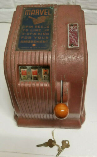 Vintage Daval Marvel Cigarette Countertop Trade Stimulator Not Coin Operated