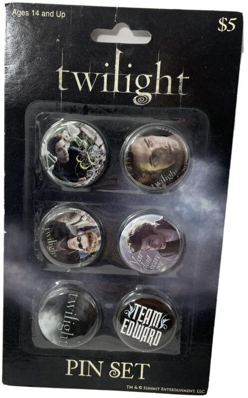 Twilight Saga Pin Set NECA New - 6 Pins Edward