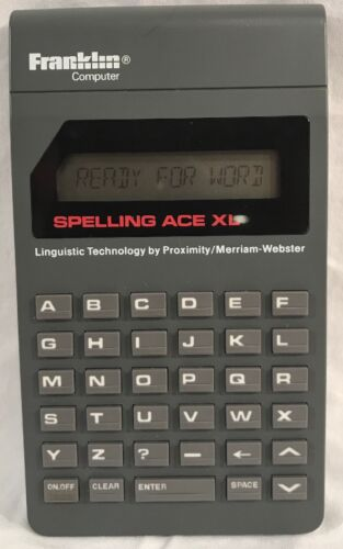 Franklin Spelling Ace XL Computer Model PS-101XL Pocket Size Spell Checker