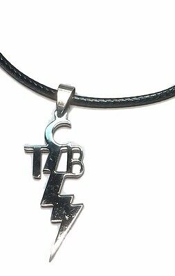 tcbebay 2 elvis tcb taking care of business pendant leather cord necklace mozeypictures Image collections