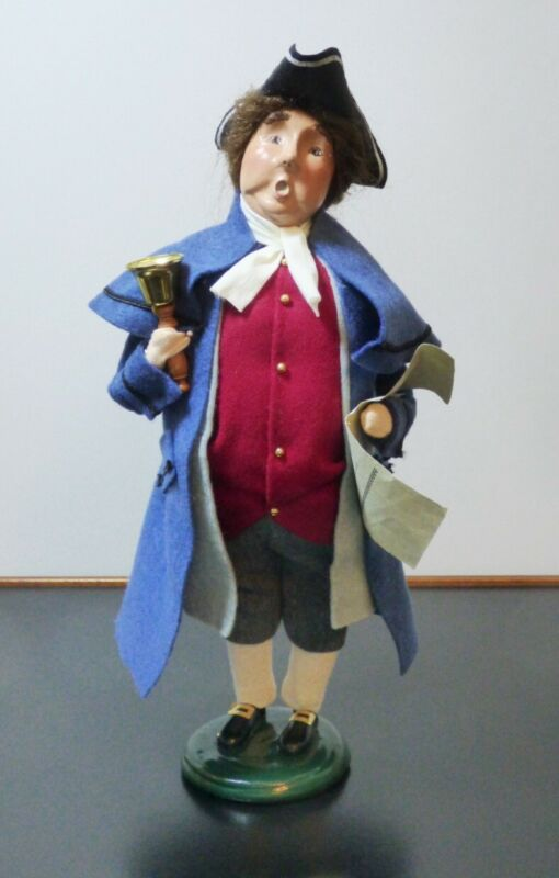 Town Crier with Bell - Caroler - Byers Choice Williamsburg - 2003 - USED