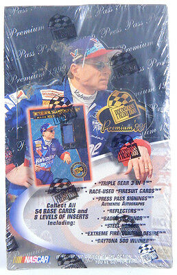 1999 Press Pass Premier Nascar Racing Hobby Box Sealed (24-packs)