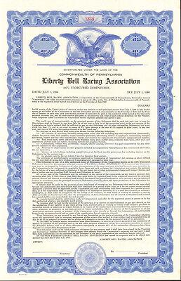 Liberty Bell Racing Association > Pennsylvania horse park bond certificate