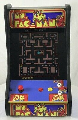 "NEW MS. PAC-MAN/GALAGA DONKEY KONG ARCADE + 60 in 1 TABLETOP  ""19"" inch Monitor"