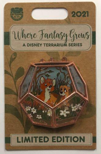 Disney Parks 2021 Fox and the Hound Where Fantasy Grows Terrarium Series LE Pin
