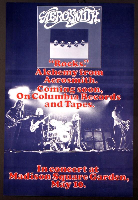 AEROSMITH ROCKS ORIGINAL TOUR POSTER 1976  MADISON SQUARE GARDEN