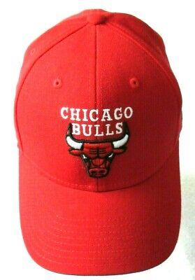 Adidas Chicago Bulls NBA Mens Adjustable Wool Logo Hat Cap Red Black White NWT