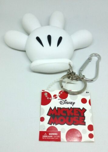 Mickey Mouse Glove Hand Coin Purse Holder Key chain Clip DISNEY RETIRED HTF New