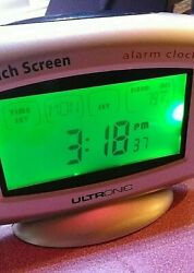Portable Touchscreen Travel Clock Digital LED Temperature Things Remembered