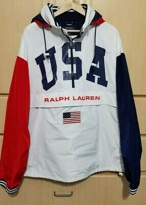 RALPH LAUREN POLO USA CHARIOTS OF FIRE USA JACKET RAIN PULLOVER WINDBREAKER $248