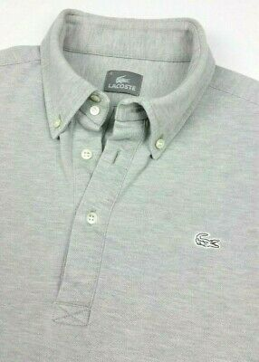 Lacoste Japan Gray Short Sleeve Mesh Polo Popover Shirt sz 5 Small Mens