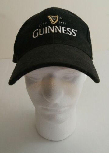Guinness Beer Black Embroidered Logo Baseball Cap  Hat Adjustable
