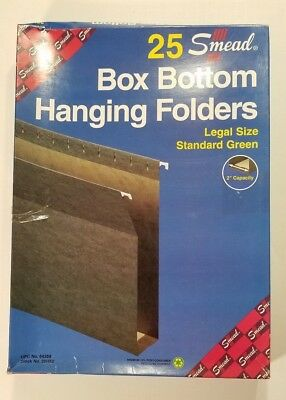 Smead 64359 2 Capacity Box Bottom Hanging File Folders Legal Green 25 Box