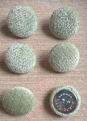 Chenille 36L/23mm Apple Upholstery Fabric Covered Buttons (Green)