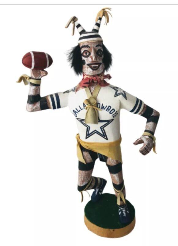 Felix Begay Dallas Cowboy Football Player Hano Clown Kachina by Artist Begay