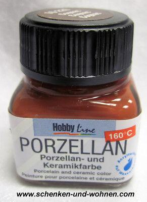 Porzellan- und Keramikfarbe 20 ml Cognac