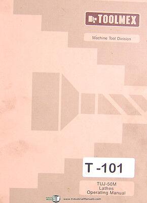 Toolmex Tarnow Tuj-50m Polamco Lathe Operating Spare Parts Manual