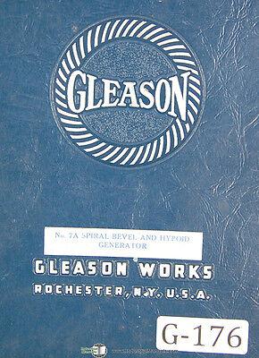 Gleason 7a Spiral Bevel Hypoid Generator Operators Instructions Manual 1943