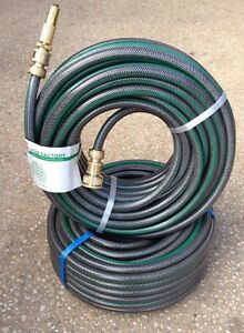 2 x 20m non kink garden water hose with ryset brass fittings made in australia ebay