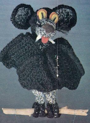 Halloween Bat Crochet Patterns (HALLOWEEN Borus Bat/Decor/Crochet Pattern INSTRUCTIONS)