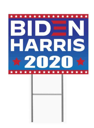 BIDEN HARRIS 2020 12x18 Yard Sign Corrugated Plastic Bandit Lawn ELECTION 1 PC