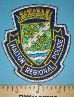 Older Halton Regional Canada Police Patch - Cheesecloth