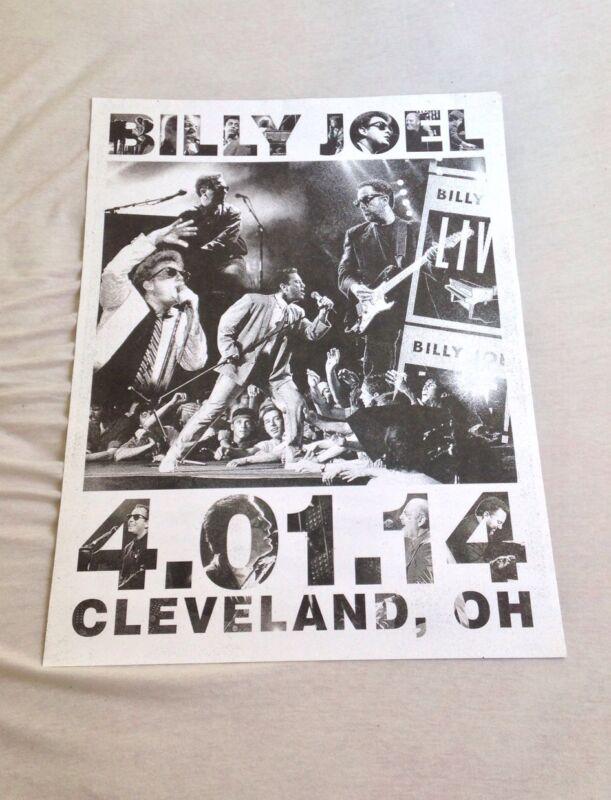 BILLY JOEL CONCERT POSTER CLEVELAND, OHIO