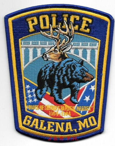 "Galena, Missouri (4"" x 5"" size) shoulder police patch (fire)"