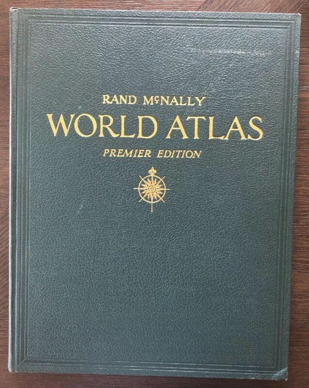 Vintage 1946 Rand Mcnally World Atlas Premier Edition