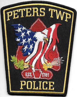 "Peters Township, PA  (4.25"" x 5.25"" size) shoulder police patch (fire)"